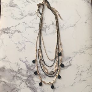 Banana Republic | black and gold layer necklace